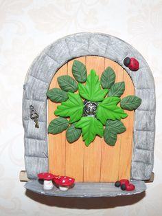Fairy Door Green Man fairy house fairy by magikallittlethings