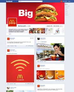 Mock-up of what a McDonald's timeline could look like