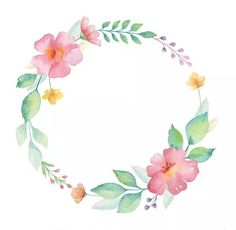 - The post appeared first on Bestes Soziales Teilen. Watercolor Cards, Watercolour Painting, Watercolor Flowers, Floral Wreath Watercolor, Watercolor Border, Frame Floral, Flower Frame, Flower Circle, Corona Floral