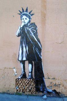 BANKSY-Estatua de Liberty Kid-Nueva York - 24 pulgadas x 36 pulgadas Lona Impresión Urban Graffiti | Casa y jardín, Decoración para interiores, Afiches y grabados | eBay!
