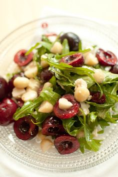 Cherry Salad with Feta and Macadamias.this sounds incredibly good. They suggest using dried cranberries if you don't have cherries. Yum!