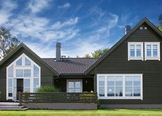 NYTT fargekart - Her finner du Jotuns mest anvendte farger for hus Exterior Colors, Exterior Design, House Painting, House Colors, Country Style, Interior Inspiration, Cottage, Outdoor Structures, Mansions