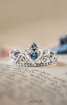 Feel like a princess in a personalized tiara ring. Made with your choice of metal, gemstones and engravings!