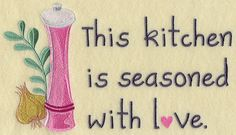 Seasoned with Love design (F7270) from www.Emblibrary.com