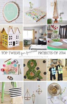 Twelve creative DIY posts!  These are so fun and simple.  They would be great weekend DIYs, too.