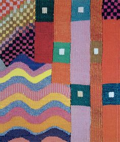 pattern and color Weaving Patterns, Textile Patterns, Textile Design, Fabric Design, Print Patterns, Pattern Design, Bauhaus Textiles, Contemporary Tapestries, Bauhaus Design