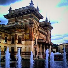 The thermal palace of #PalazzoBerzieri in #SalsomaggioreTerme, province of #Parma - Instagram by @manuel_194