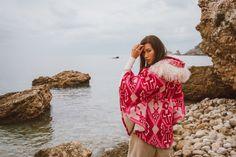 Ponchos Boho, Ibiza, Boho Chic, Cover Up, Hearts, Collection, Dresses, Fashion, Fall Winter