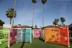 PopSugar & ShopStyle's Cabana Club: An dramatic art installation was made from multicolor neon ribbons at PopSugar and ShopStyle's Cabana Club hotel takeover. The piece was a collaboration with the Las Vegas festival Life Is Beautiful.