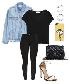 """Sem título #584"" by julianaoliveira18 on Polyvore featuring moda, MANGO, Acne Studios, Stuart Weitzman, Casetify, Chanel e Ray-Ban"