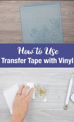 How to Use Transfer Tape with Vinyl Struggling with transfer tape and your Cricut machine? We are showing you the basics of how to use transfer tape with vinyl on your craft projects! Cajas Silhouette Cameo, Silhouette Vinyl Projects, Silhouette Cameo Tutorials, Vinyle Cricut, How To Use Cricut, Cricut Help, Cricut Air, How To Make, Cricut Explore Projects