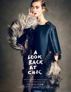 Monika Jac Jagaciak by Andreas Sjodin for Vogue Japan