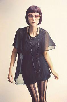 H&M Black Silky Top
