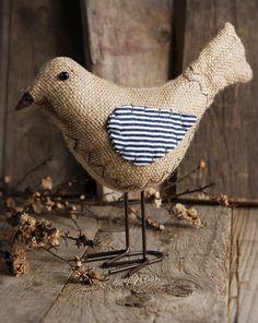 """Burlap & Cotton Nellie Birds 8"""""""