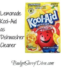Lemonade+Kool-Aid+as+Dishwasher+Cleaner