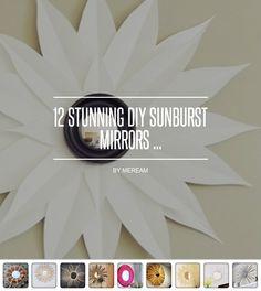 12 #Stunning DIY Sunburst Mirrors ... - #Lifestyle