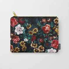 EXOTIC GARDEN - NIGHT VI Carry-All Pouch by burcukorkmazyurek | Society6