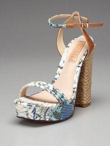 Schutz Caitlyn sandal - the espadrille heel is a hot new shape for summer.