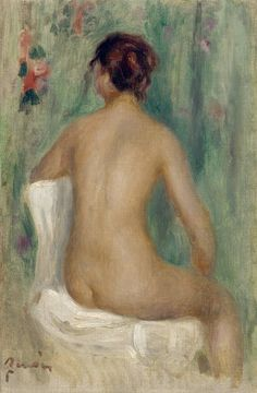 Seated Nude Seeing from the Back, 1895. Pierre Auguste Renoir
