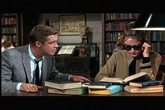 """Breakfast at Tiffany's"" George Peppard and Audrey Hepburn. Using the card catalog, they discovered his book in the stacks, and then got shushed by a cranky librarian, who is upset when he autographs the book. Breakfast Club, Breakfast At Tiffanys, George Peppard, Shirley Jones, Christopher Reeve, Anakin Skywalker, Star Wars Episodio Ii, Indiana Jones, Ghostbusters"