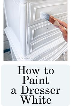 A DIY White Painted Dresser Tutorial. A Beginners S&; A DIY White Painted Dresser Tutorial. A Beginners S&; Channing Broderick channingcb home+happy place A DIY White Painted Dresser Tutorial. White Painted Dressers, Painted Bedroom Furniture, Black Furniture, Repurposed Furniture, Dresser Furniture, Reclaimed Furniture, Industrial Furniture, Vintage Industrial, Furniture Vintage