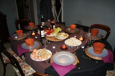 "A very Piedmont table in a winter evening preparing ""bagna Caoda"" with fresh vegetables http://en.wikipedia.org/wiki/Bagna_caoda"