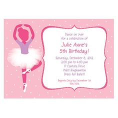 Find Ballet Personalized Invitation (each) and other All Parties party supplies. The most popular party Supplies and Decorations, all available at wholesale prices!