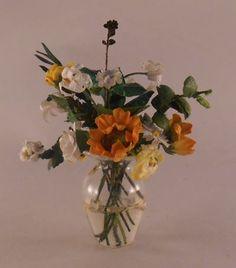 Bouquet in Glass Vase by Marie Petrik