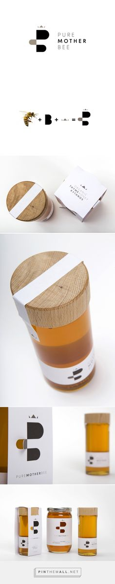 Pure Mother Bee | Honey Packaging - S & Team - created via http://pinthemall.net