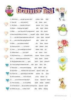 Grammar test worksheet - Free ESL printable worksheets made by teachers