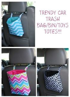Trendy Car Trash Bag  64% off  for 2 days only. Priced at only $6.99 (was $18.99). You are going to love this trendy Trash Bag/Bin/Toys Totes. They are made of the same high end material as our beach bags, backpacks, lunch totes….they a completely washable and won't loose it's colorful luster. They are lined, wipe-able reusable trash …