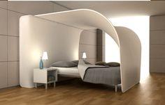 Futuristic bedroom design