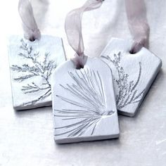 Good Totally Free natural clay ornaments Popular Ceramic Ornaments with Natural Plant Impression Christmas Holiday Decoration Silver Large – Set o Ceramic Jewelry, Clay Jewelry, Ceramic Clay, Clay Christmas Decorations, Christmas Ornaments, Christmas Clay, Etsy Christmas, Diy Clay, Clay Crafts