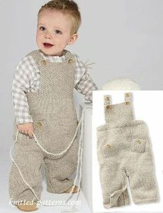 8e1b78372cd74 Free knitting pattern dungarees Boys Knitting Patterns Free