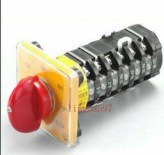 Metal Encloser 1Set Milling Machine Part Control Motor Rotary Cam Switch