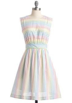 Too Much Fun Dress in Rainbow. Theres probably no such thing as overloading on fun, but if such a thing were possible, why not go all out in this adorable dress? #multi #modcloth  Bought this!   Get $15 off when spending $50+ for your first order! http://fbuy.me/d4-GS