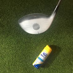 Golf Quick Tip: Use Dr. Scholl's Foot Spray to see clearly where you're impacting the golf ball Toe ➡️ draw spin Heel ➡️ fade spin Low ➡️ more spin High ➡️ less spin Click for more tips and instruction!