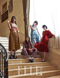 Elle Korea September 2015, Park Sera、Kim Won Kyung、So Young Kang、Lee Hye Jung