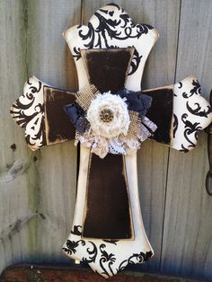 cross home decor...very pretty!