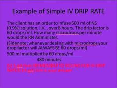IV Drip Calc Video for Nursing Students Nursing Math, Nursing Tips, Nursing Notes, Nursing Students, Student Nurse, Rn School, School Tips, Medical Sites, Nursing Information