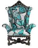 Phyllis Morris - Beverly Hills CA Custom Furniture Maker Luxury Beds Funky Furniture, Custom Furniture, Painted Furniture, Furniture Design, Butterfly Chair, Blue Butterfly, Butterfly Kisses, Butterfly Print, Funky Chairs