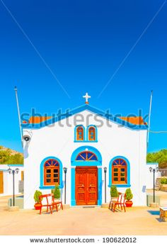 old church at Pserimos island in Greece - stock photo