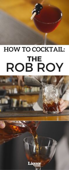 Celebrate the Scottish folk hero with the classic whisky-based Rob Roy #cocktail. This #recipe is similar to the beloved Manhattan, but uses Scotch instead of rye whiskey and orange bitters instead of aromatic bitters. The difference is delicious—try it for yourself.