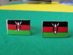 Kenyan Flag Cufflinks by LoudCufflinks on Etsy, $22.00