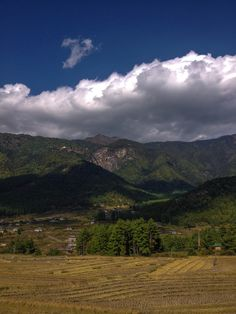 Beautiful Paro valley in the early morning. #bhutan