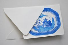 Blue Willow Chinoiserie Notecards and Envelopes by thepinkpagoda, $20.00