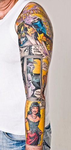 Awesome comic tattoo..would never but hey its pretty freakin' rockin!
