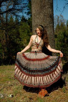 f1e32d4b7cf1 Indian Cotton Skirt... Gypsy Maxi Skirt... CARAVANS