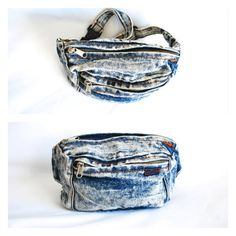 80s 1980s Fannypack Fanny Pack Pouch Acid Wash by newagegypsy