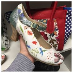 ab05e1aa5a2 Candice Butterfly Mary Jane Low Heels Brand Name Shoes